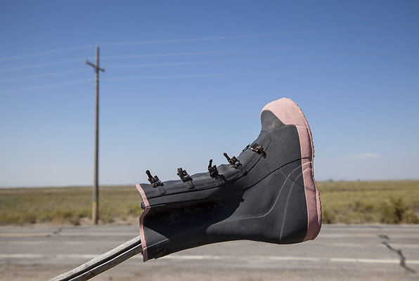 boot on a pole